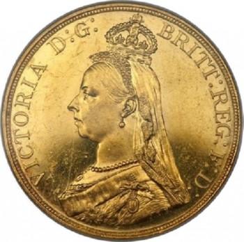 ヴィクトリア・5ポンド金貨