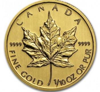 カナダ・メイプルリーフ金貨
