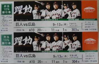 野球 スポーツ観戦チケット