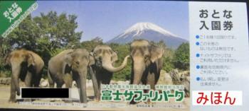 富士サファリパーク 入園券
