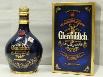 Glenfiddich グレンフィディック 18年 陶器 青 750ml