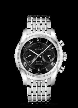 デ・ビル オメガ Co-Axial Chronograph 42 mm  ステンレススティール & ステンレススティール  431.10.42.51.01.001
