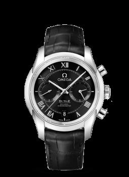 デ・ビル オメガ Co-Axial Chronograph 42 mm  ステンレススティール & レザーストラップ  431.13.42.51.01.001