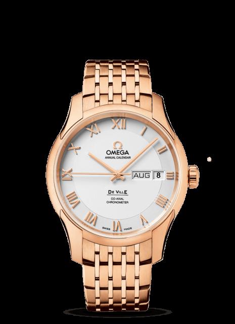 デ・ビル オメガ Co-Axial Annual Calendar 41 mm  レッドゴールド & レッドゴールド  431.50.41.22.02.001