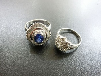 プラチナ リング ダイヤ サファイヤ