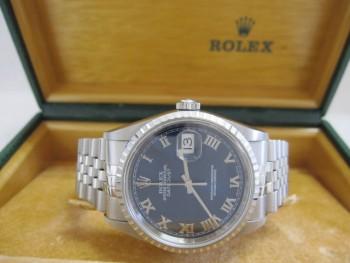 ROLEX ロレックス デイトジャスト 16220 ブルーローマン