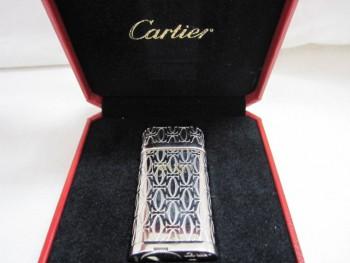 Cartier カルティエ ライター CA120134 プラチナフィニッシュ2Cモチーフ