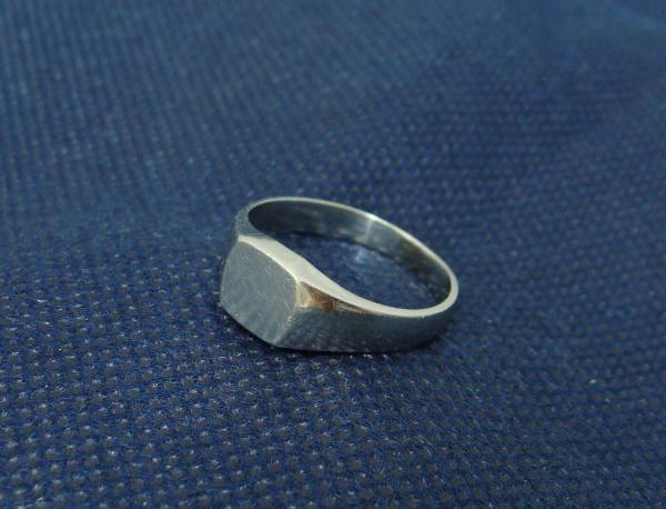 貴金属 プラチナ 印台リング 指輪