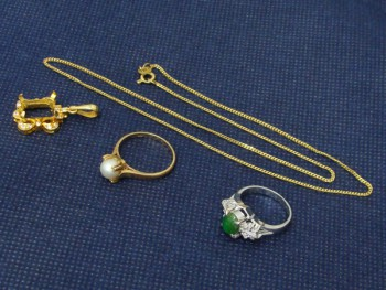 貴金属 金 プラチナ ネックレス 指輪