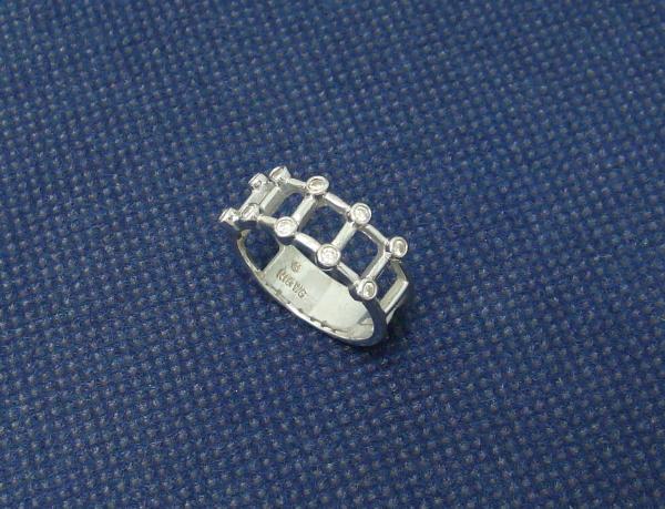 ホワイトゴールド K18WG リング 指輪
