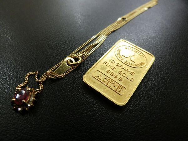 貴金属 K24 インゴット  K18 ネックレス
