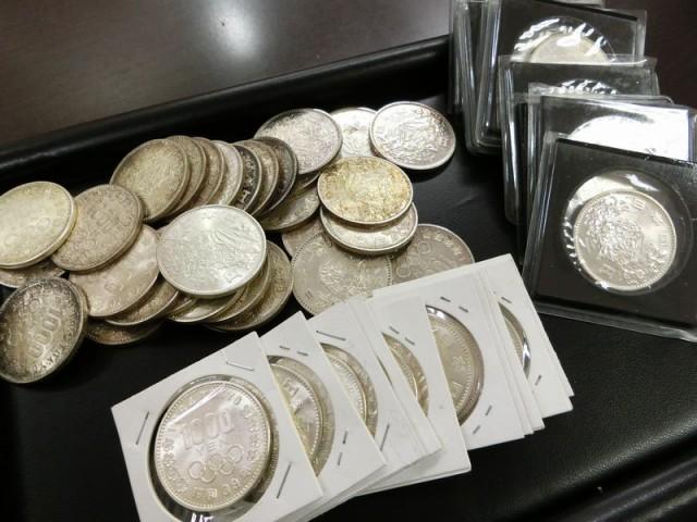 東京オリンピック 1000円 1946年 昭和39年 銀貨