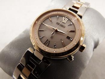 SEIKO LUKIA ソーラー電波 SSQV014 レディース腕時計