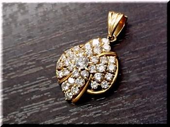 k18ダイヤモンドトップ 0.29ct/メレ1.93ctを高価買取致しました。