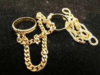貴金属 K18 リング ブレス