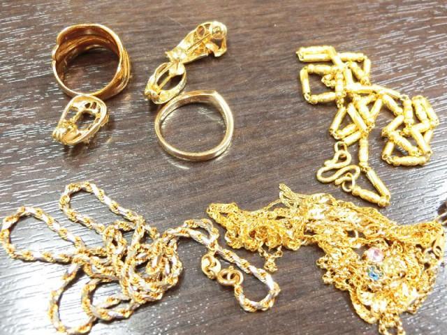 ジュエリー K18 ネックレス 指輪