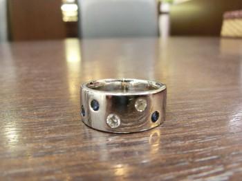 Pt900 リング 指輪 石付き
