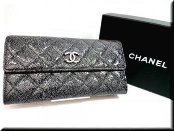 CHANEL/シャネル マトラッセ パリダラス 二つ折り長財布を高価買取致しました。