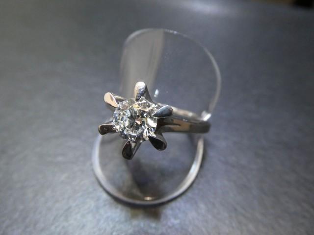 プラチナ ダイヤモンドリング PT950 D1.005ct