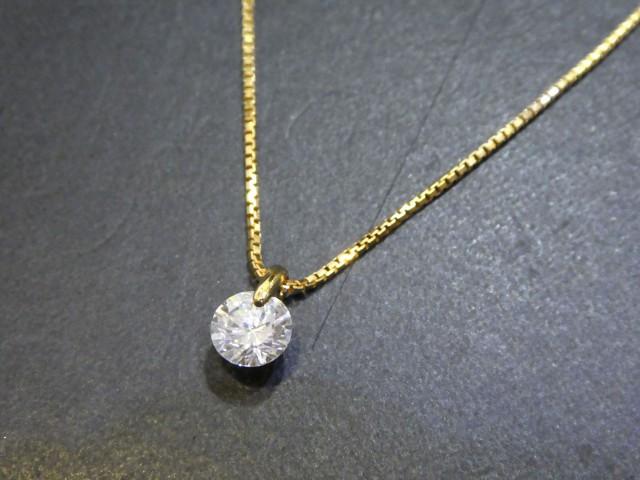 K18 ダイヤモンド ネックレス D1.15ct
