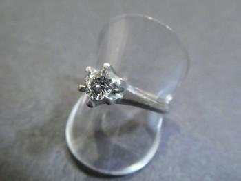 貴金属 PT900 ダイヤリング 0.34ct