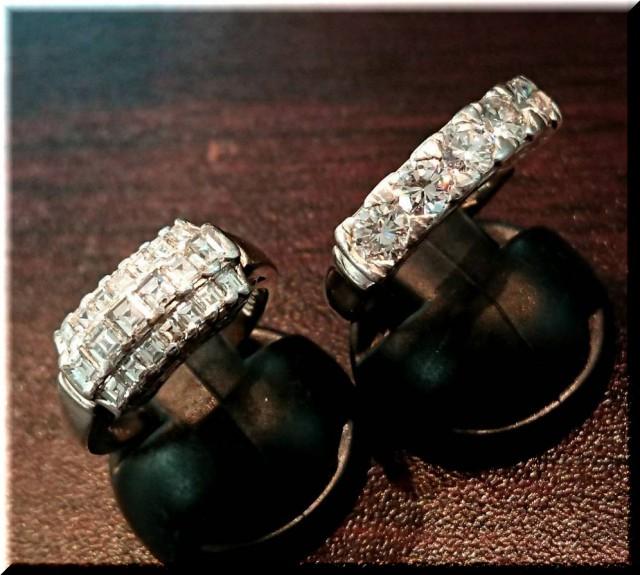 PT900ダイヤモンドリング1.1ctとメレの1.0ctを高価買取させて頂きました。