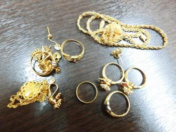 K18 ネックレス 指輪 ピアス