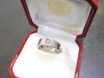 カルティエ ラブリング K18WG ダイヤモンド