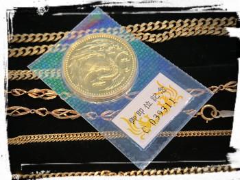 金買取 K24の天皇御即位記念の金貨を買取しました★