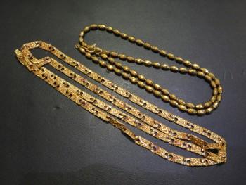 貴金属 K18 ネックレス2本