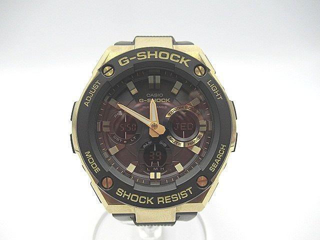 CASIO◆G-STEEL/ジースチール/ G-SHOCK/腕時計/デジアナ/gst-w100g